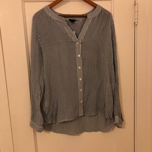 NWT striped button up blouse